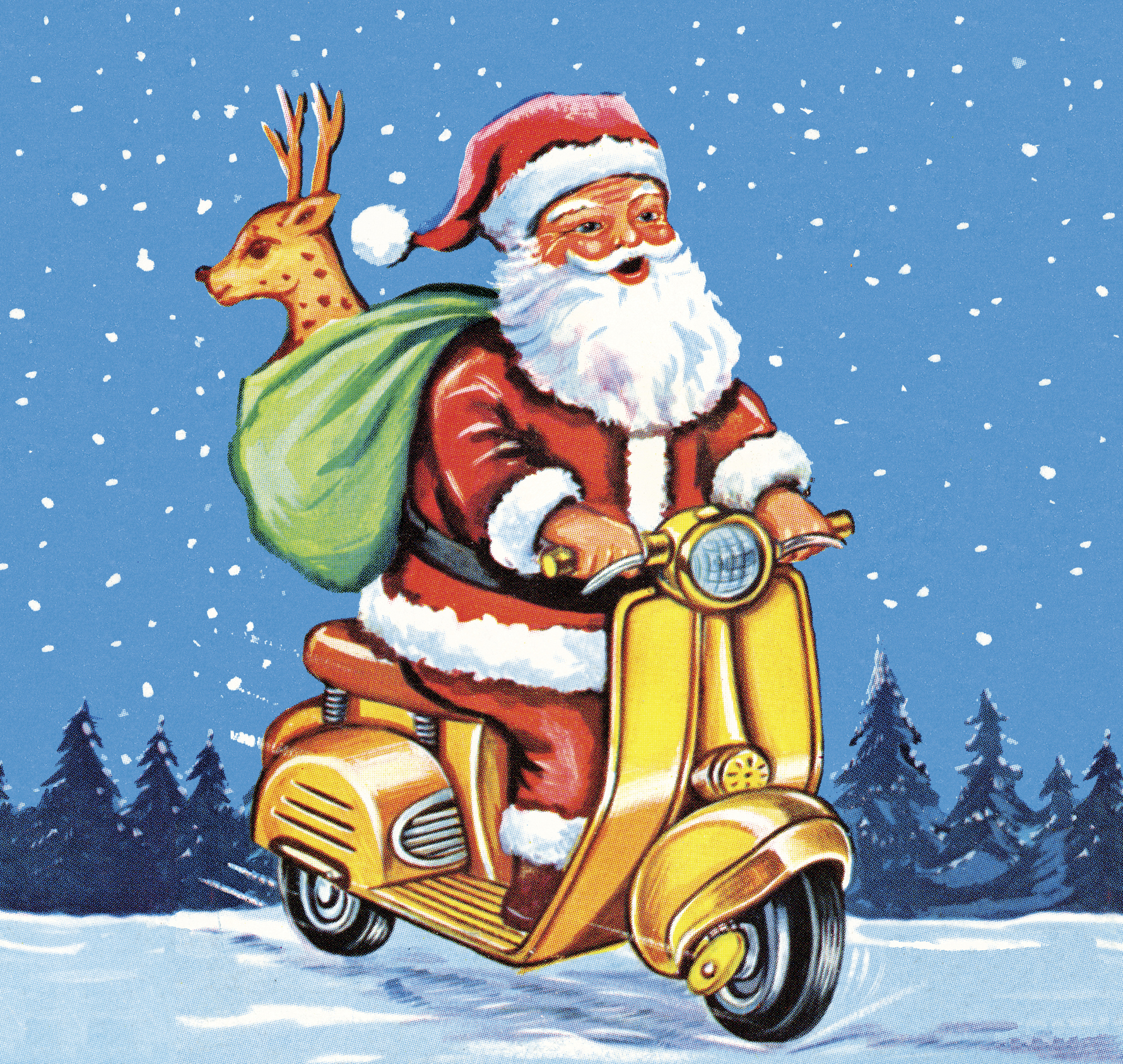 Santa Claus on Motorized Scooter