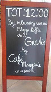 Kopje koffie gratis Meneren taalfouten horeca