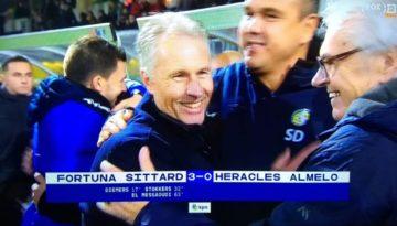 Screenshot eindstand Fortuna Sittard tegen Heracles