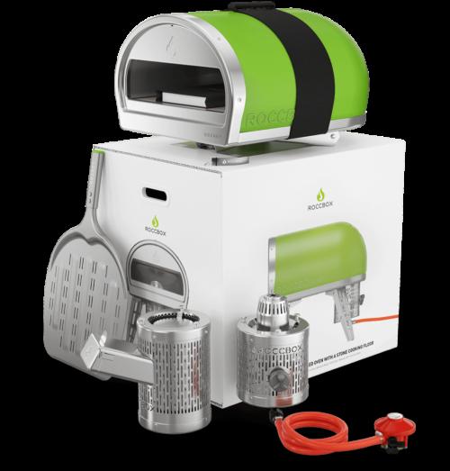 De Roccbox pizza-oven in groen
