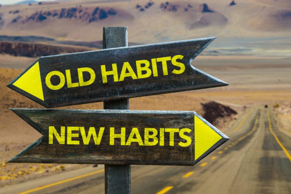 Old Habits - New Habits signpost
