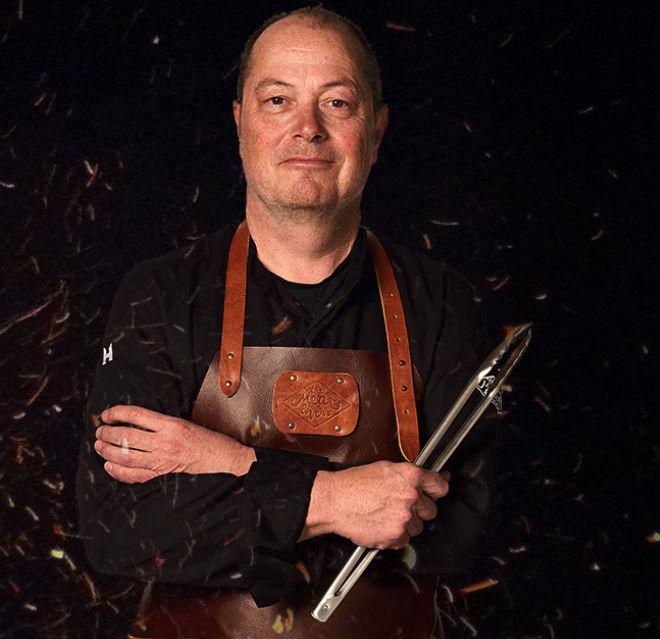Marcel Maassen vuurkoning BBQ v