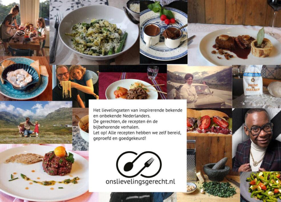 Collage gerechten en mensen onslievelingsgerecht post